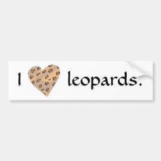 Leoparden des Herzens I, Autoaufkleber
