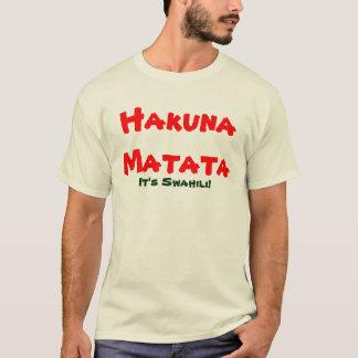 Lernen Sie, Suaheli zu sprechen T-Shirt