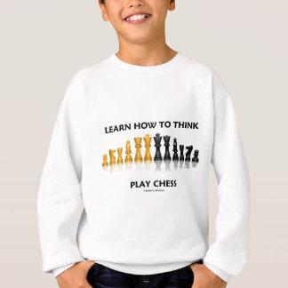 Lernen Sie, wie man Spiel-Schach denkt Sweatshirt