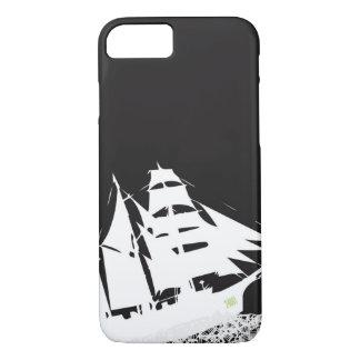 Les Mis Schiffs-Silhouette-Kasten iPhone 8/7 Hülle