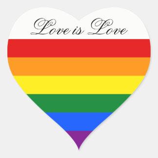 Lesben-Gay Pride der Herz-Aufkleber