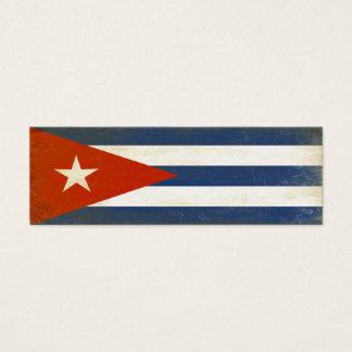 Lesezeichen mit beunruhigter Vintager Flagge von Mini Visitenkarte