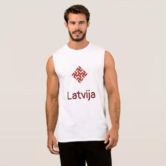 Lettland-Behälter mit Donner-Kreuzamulett Ärmelloses Shirt