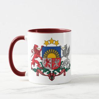 Lettland-Emblem Tasse