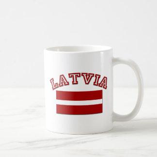Lettland-Flagge 2 Tasse