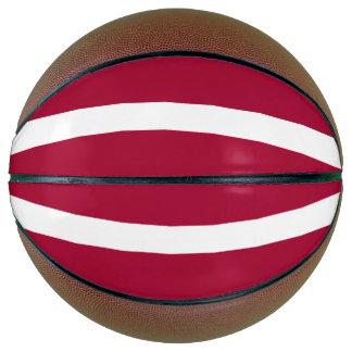 Lettland-Flagge Basketball