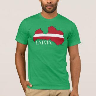 Lettland Flagge-Karte Shirt