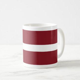 Lettland-Flaggen-Kaffee-Tasse Kaffeetasse