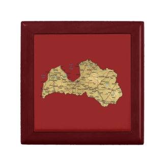 Lettland-Karten-Geschenkboxen Geschenkbox