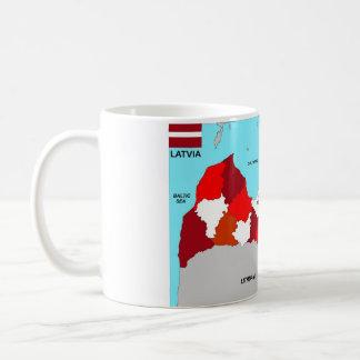 Lettland-Kartenflagge Tasse