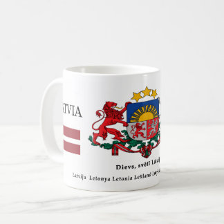 Lettland-Staatssymbole-Wappen Wappenkunde Kaffeetasse