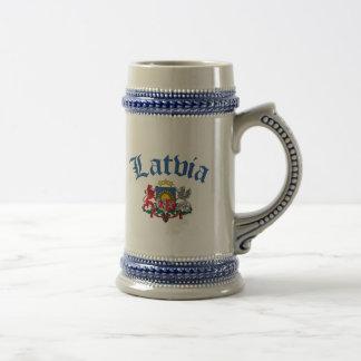 Lettland-Wappen Bierglas