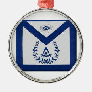 Letzte HauptSchürze F&AM Rundes Silberfarbenes Ornament