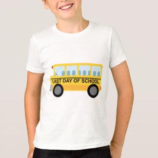Letzter Tag des SchulSchulbus-Geschenks T-Shirt