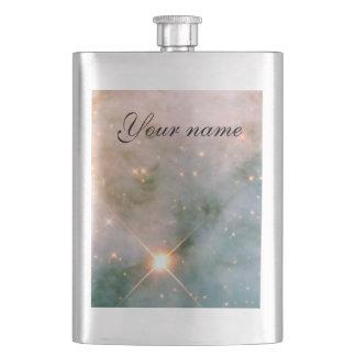 Leuchtender Carina-Nebelfleck Flachmann