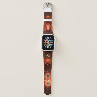 Leuchtendes abstraktes modernes orange Rot Apple Watch Armband