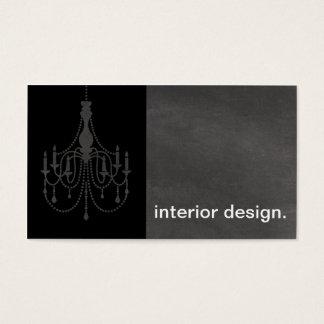 Leuchter-Tafel-Silhouette - Innenarchitektur Visitenkarten
