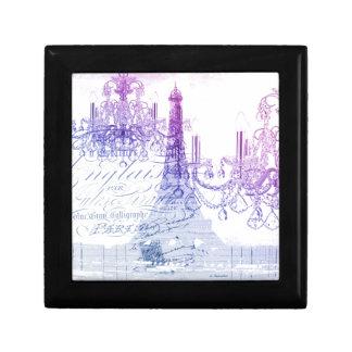 Leuchterparis Eiffel des Chic französischer lila Erinnerungskiste