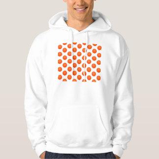 Leuchtorange-Basketball-Muster Hoodie