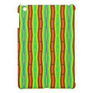Leuchtorange-grüne gelbe Streifen Hülle Für iPad Mini