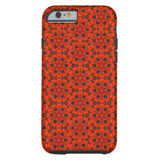 Leuchtorange-Kaleidoskop iPhone 6 Fall Tough iPhone 6 Hülle