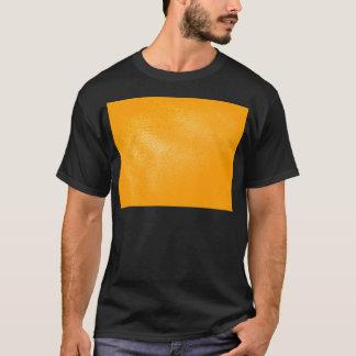 Leuchtorange-Leder-Blick T-Shirt