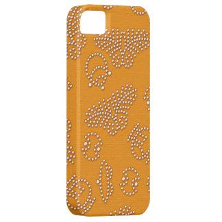 Leuchtorange punktiertes japanisches Muster Schutzhülle Fürs iPhone 5