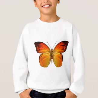 Leuchtorange-Schmetterling Sweatshirt