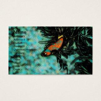 Leuchtorange und blaue Betafische Visitenkarte