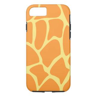 Leuchtorange-und Gelb-Giraffen-Muster iPhone 8/7 Hülle