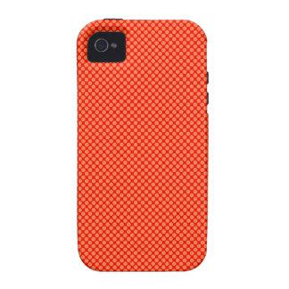 Leuchtorange und rotes MiniTupfen-Muster iPhone 4 Case