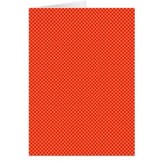 Leuchtorange und rotes MiniTupfen-Muster Karte