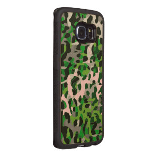 Leuchtstoff grüner grauer Cheetah abstrakt Handyhülle Aus Holz