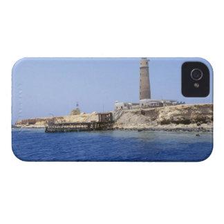 Leuchtturm auf Bruder-Inseln, Rotes Meer, Ägypten iPhone 4 Case-Mate Hülle