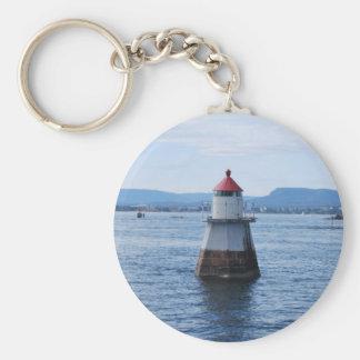 Leuchtturm im Meer Schlüsselanhänger