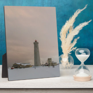 Leuchtturm in Island Fotoplatte