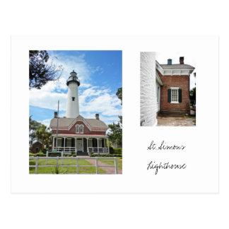 Leuchtturm St. Simons Postkarte