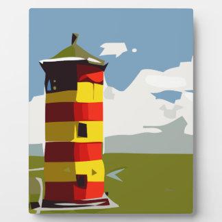 Leuchtturm-Turm Fotoplatte