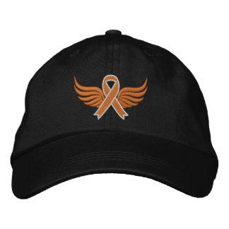 Leukämie-orange Band-Flügel Bestickte Mützen