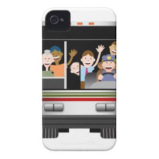 Leute, die auf einen Bus fahren iPhone 4 Case-Mate Hüllen