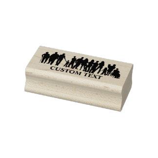 Leuteentwurfs-Gewohnheits-Briefmarke Gummistempel