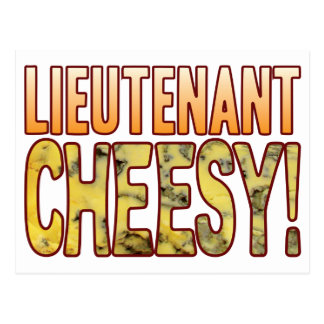 Leutnant Blue Cheesy Postkarte