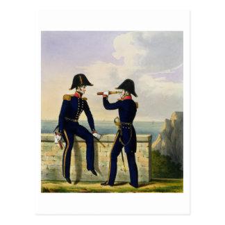 Leutnants, überziehen 1 'vom Kostüm des Postkarte