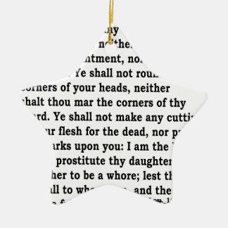 Lev. 19:26 keramik Stern-Ornament
