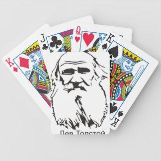 Lew Tolstoi Bicycle Spielkarten