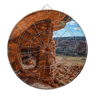 Lewis-Häuschen Anasazi Ruine - Zedern-MESA - Utah Dartscheibe