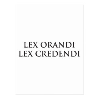 Lex Orandi Lex Credendi im Schwarzen Postkarte