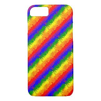 LGBT Farben-Spritzer-Regenbogen-Flagge iPhone 8/7 Hülle