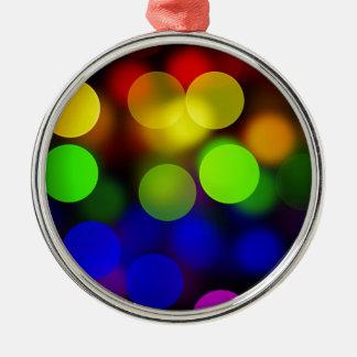 LGBT Flagge mit Blured kreist Effekt ein Rundes Silberfarbenes Ornament