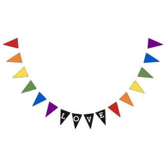 LGBT Gay Prideregenbogenflagge Valentine-Liebe Wimpelketten